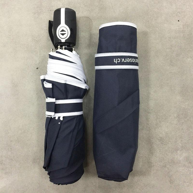 Navy-blue-Travel-Folding-Umbrella