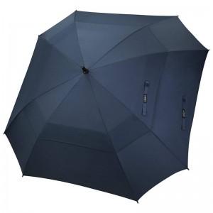 Wholesale Auto open 60inch x8k sun/rain large size straight handle UV protect windproof golf umbrella in sqaure shape