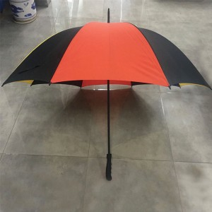Custom Windproof Manual Open single layer golf umbrellas with logo printed Multiple Colors