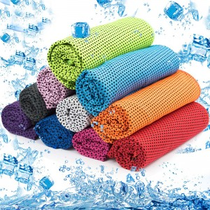 WOLUNTU® Cooling sprot Towel-Instant Cooling Sports Towel Chill Feeling Golf Towel, Super Soft and Breathable Yoga Towel with Special Jars Container with Clip, for Yoga Gym, Sports and School, Ice Towel,Cool Towel,Chilly Towel for Sports,Neck,Golf,Workout,Gym,Fitness,Travel,Camping