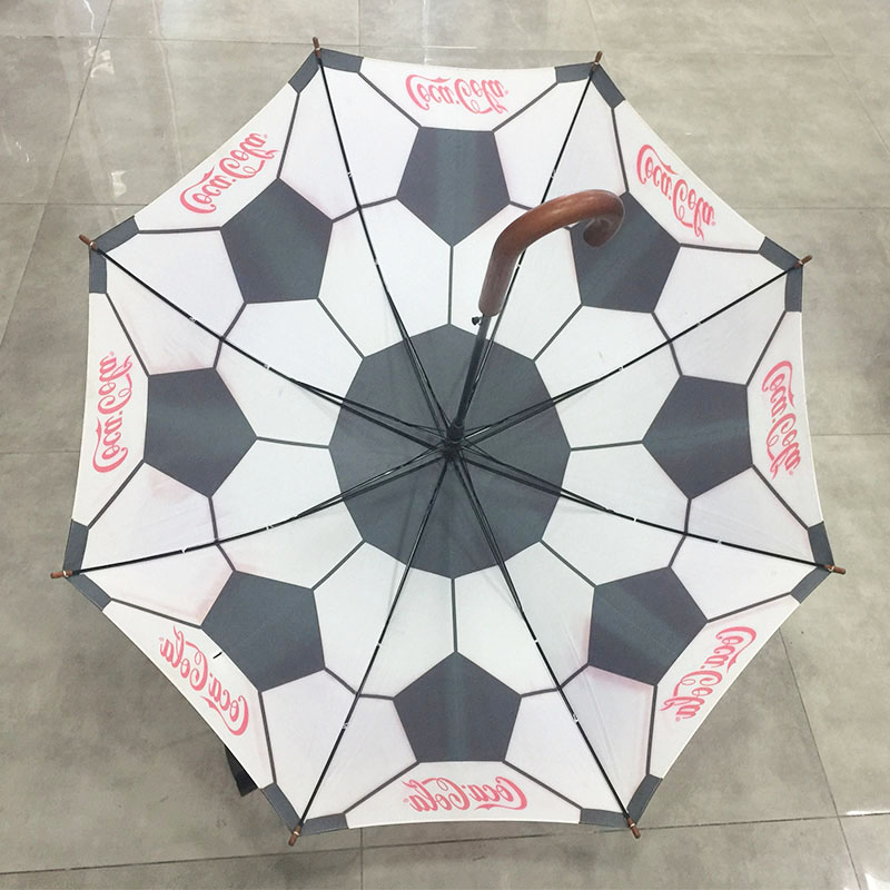 Custom-printing-umbrella-with wooden-handle