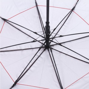 2019 Auto open 30inch fiberglass red HSBC BANK  golf umbrella for sale