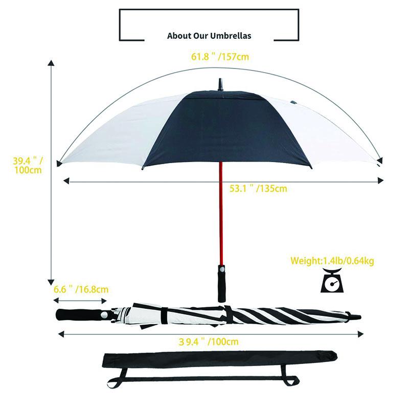 Red-fiberglass-ribs-golf-umbrella