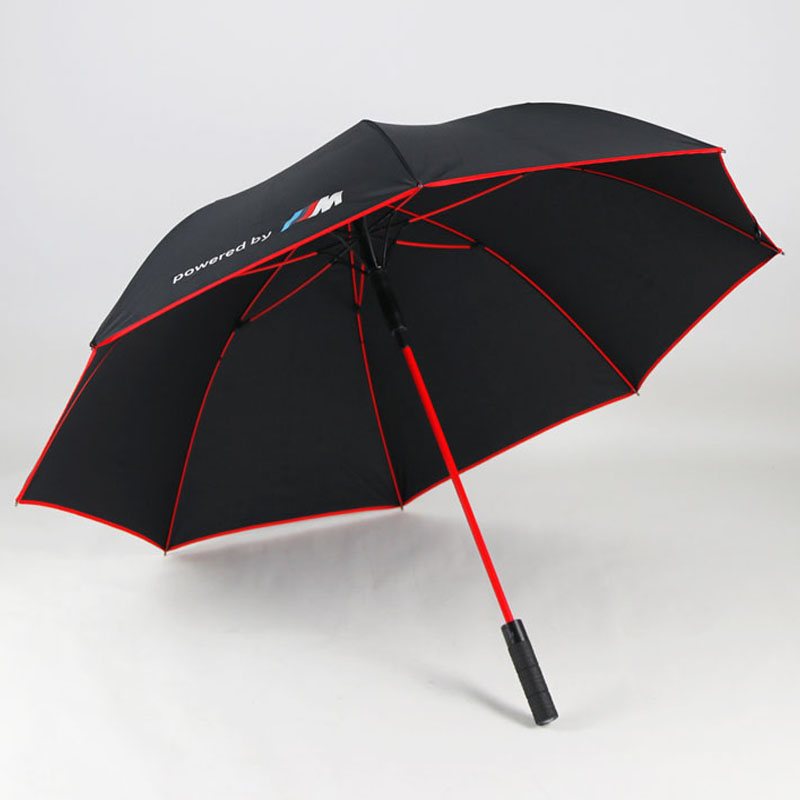 Premium Quality BMW Umbrella Golf Automatic Red Frame and Wheel handle