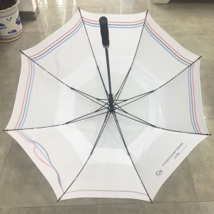 Wholesale High quality BMW Golfsport Automatic Golf Umbrella double canopy white golf umbrella, fibergalss umbrella for European tour (Custom car brand logo printing)