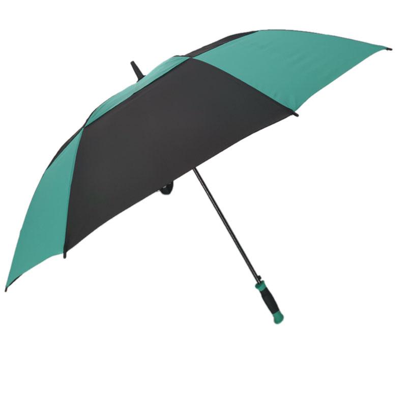 WOLUNTU® 30 inch auto green and black soft handle golf umbrella