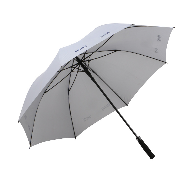 2-3-Person large two-person business white automatic golf straight Umbrella men's advertising long handle umbrella outdoor gift umbrella custom Umbrella Printing logo