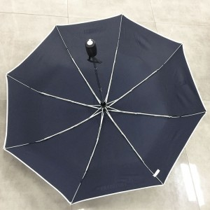 2019 Economical Standard size Windproof Travel Folding Umbrella Auto Open Close – Portable Compact Foldable umbrella Design – Navy blue