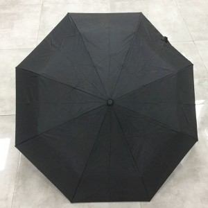New auto open and auto colose double canopy custom 3 fold umbrella with inside layer colorful printing High quality fold umbrella distributor wholesaler
