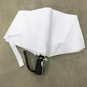 Guaranteed quality Mens Ladies Cheap Auto open auto close Small Pocket Telescope folding white Umbrella with logo printing
