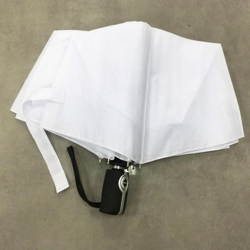 Mens Ladies Compact Folding white umbrella