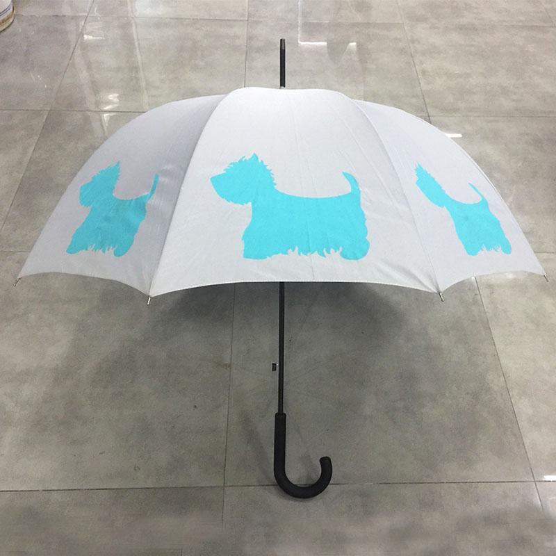 Wholesale-cheap-dog-print-stick-umbrella