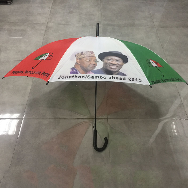 Wholesale Auto open cheap custom print logo Advertising Promotional polyester Presidential election umbrella