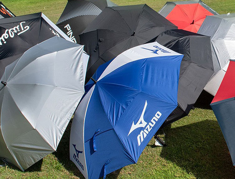Bring your logo to the top with imprinted double Golf umbrellas