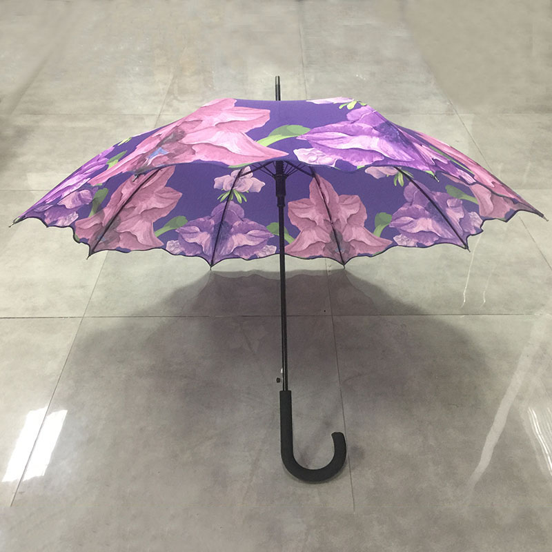 Custom-Waterproof-stick-flower-umbrella