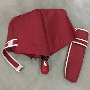 Wind Resistant Travel Compact Umbrella Custom fashion Folding Umbrella for Men Women (Red)