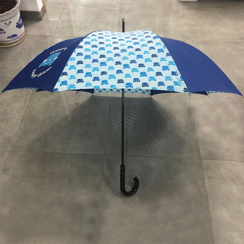 Colourful printed Art Fashion Umbrella Windproof Stick Straight Strong Rain Umbrellas for Men and Women