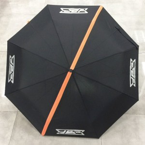 """High quality custom promotional 190T pongee 42"""" Arc automatic open and close 3 fold umbrella 8 ribs with logo prints (Cheap chinese wholesale umbrella suppliers)"""