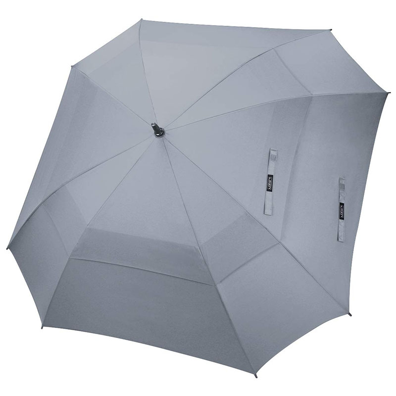 Automatic open windproof waterproof double layers sports sqaure golf umbrella for men