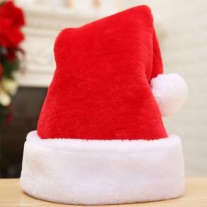 2020 Winter promotional custom christmas santa hats Embroidery logo