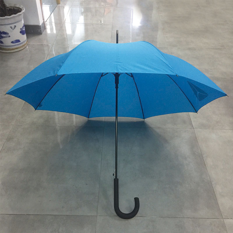 Custom Auto open straight umbrella with logo print Windproof and Waterproof long Stick Umbrella