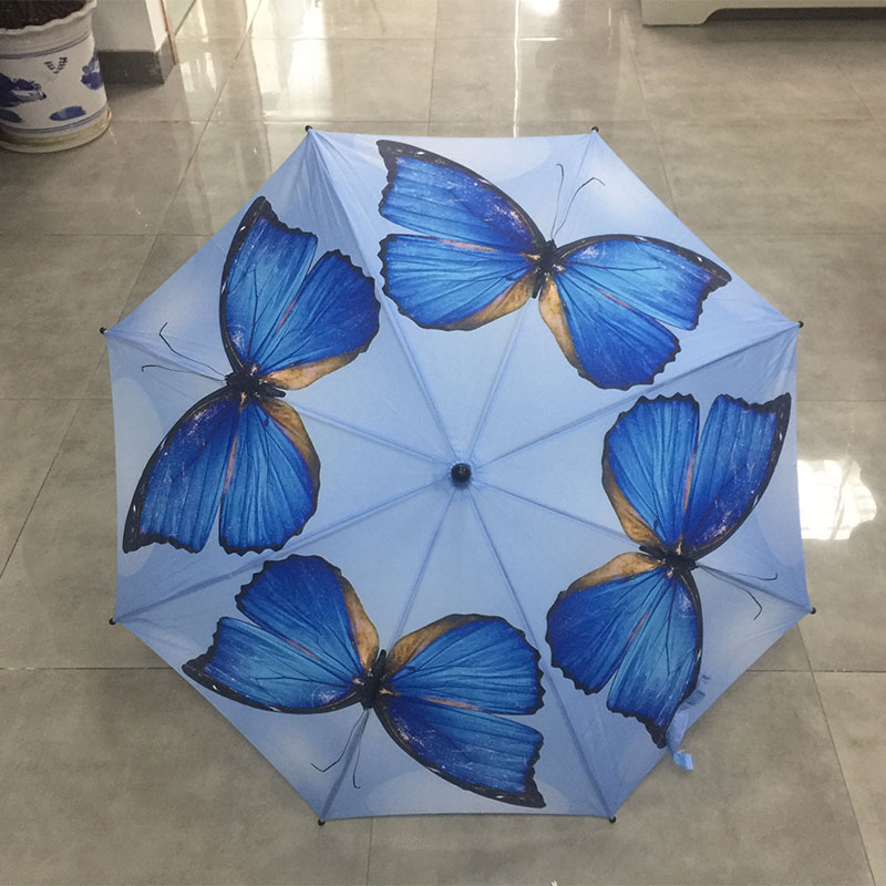 windproof-straight-colors-butterfly-umbrella