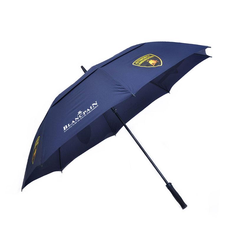 Double Canopy Layer Storm Rain Rolls Royce with Navy blue golf umbrella