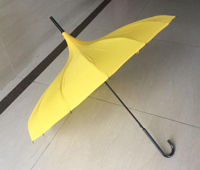 Hot-sale-Yellow-Parasol-Pagoda-Umbrella