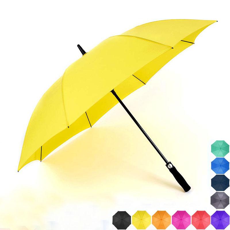 Large heavy duty auto open windproof straight Soft Eva handle golf umbrella