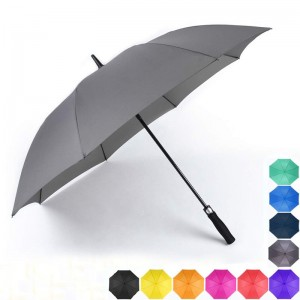 Custom Long Shaft auto open golf umbrella with logo printing;Automatic Open Waterproof golf Umbrellas