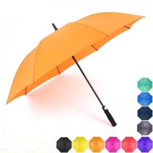 140cmArc  yellow Automatic Open Waterproof golf Umbrellas