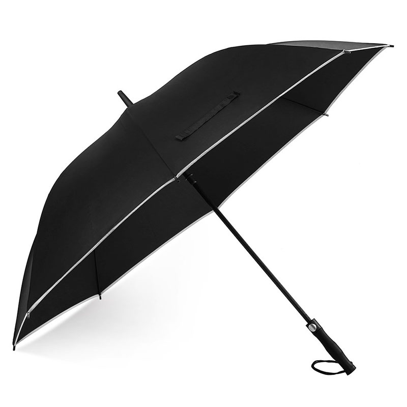 62 inch Golf umbrella with Reflective Stripe Flexible Fiberglass Construction, Lightweight & Waterproof | Oversized Umbrellas