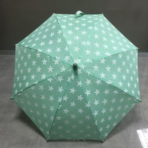 A large number of Wholesale Different fabric colors top quality cheap custom printing steel straight green child umrbella from China factory