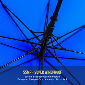 55inch Sky-Blue Windproof Oversize Waterproof golf Umbrellas for Men Women