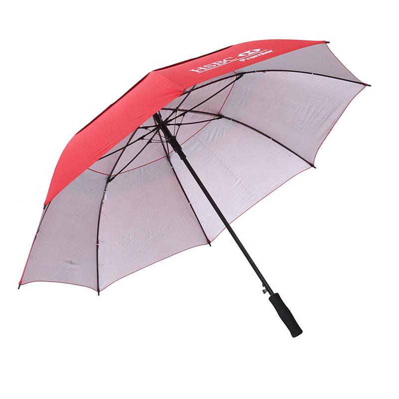 2019 Auto open 30inch fiberglass red HSBC BANK  golf umbrella for sale