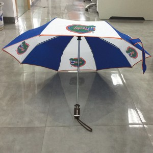 Auto open and auto close Fast Drying fashion design custom print logo windproof Ultralight Travel Compact fold umbrella for wholesale
