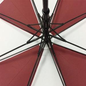100% quality hot selling cheap Red and white color double canopy strorm windproof Stockschirm voll Fiberglas golf Regenschirm für-Damen-und-Herren (2-Personen large size)
