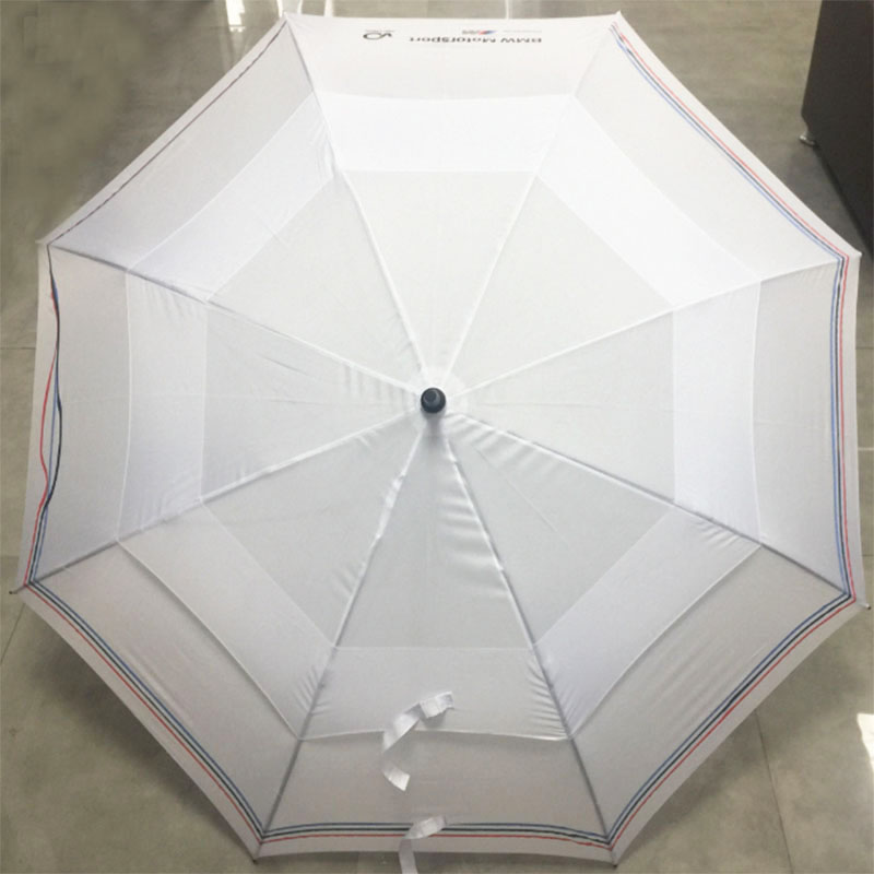 Double-canopy-white-golf-umbrella