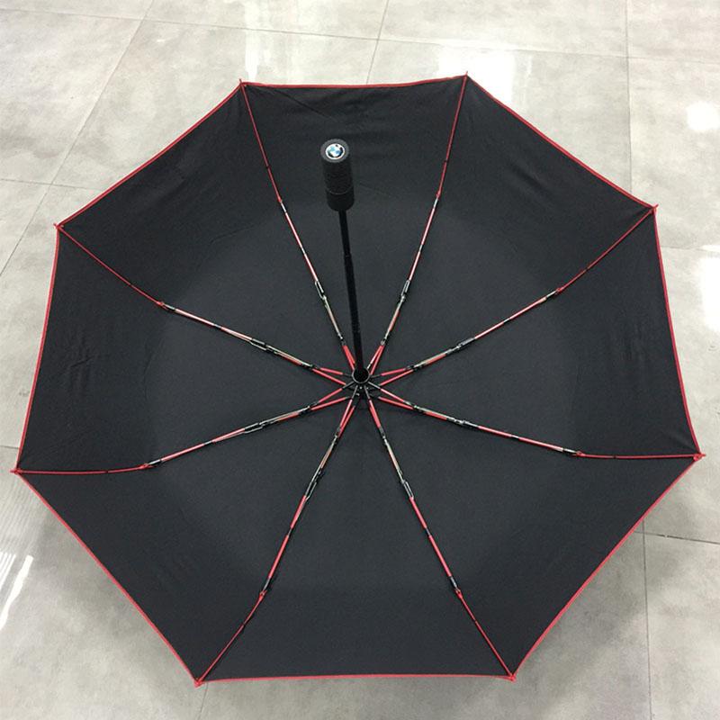 red-fibergalss-Windproof-Folding-Umbrella