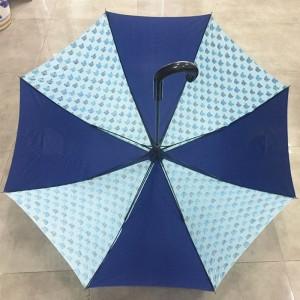 Colourful printed Art Fashion Umbrella Windproof Stick Straight Strong Rain Umbrellas for Men and Women