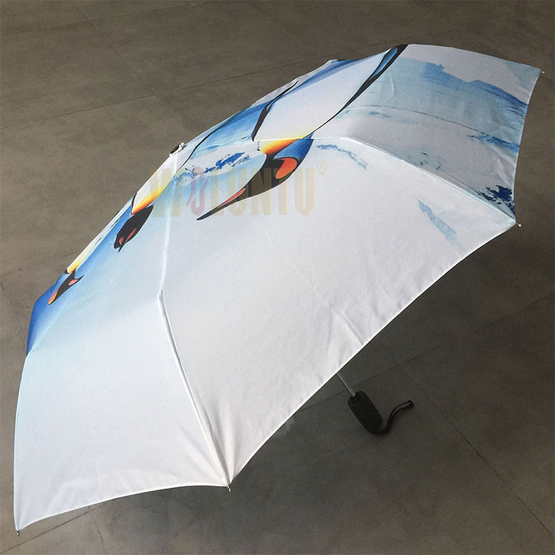 Auto-open-The-penguins-kingdom-fold-umbrella