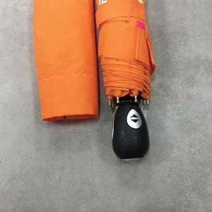 Travel Umbrella Office Auto Open Close Compact Umbrella Windproof Sun & Rain Umbrella Orange
