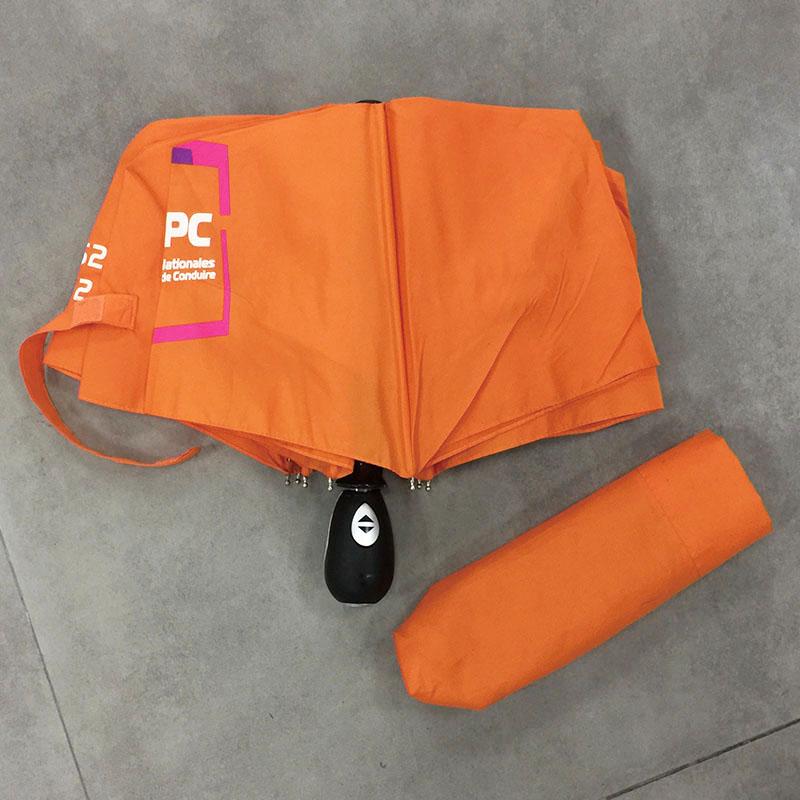 Orange-color-folding-umbrella