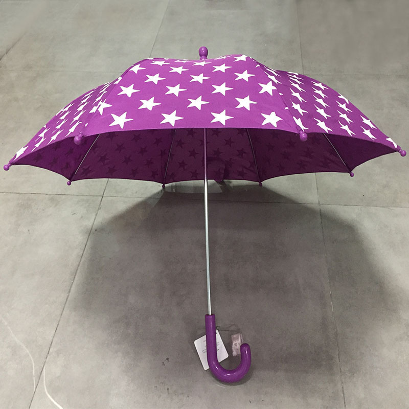 Wholesale cheap custom print stars High quality fashion popular purple children umbrella from made in China