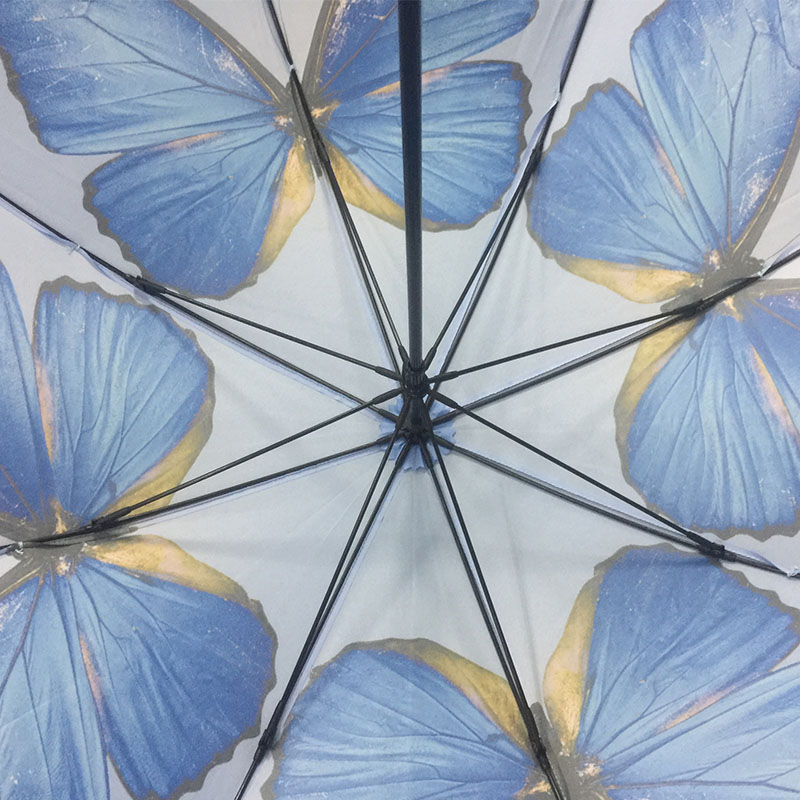 Wholesale-Automatic-Stick-butterfly-umbrella