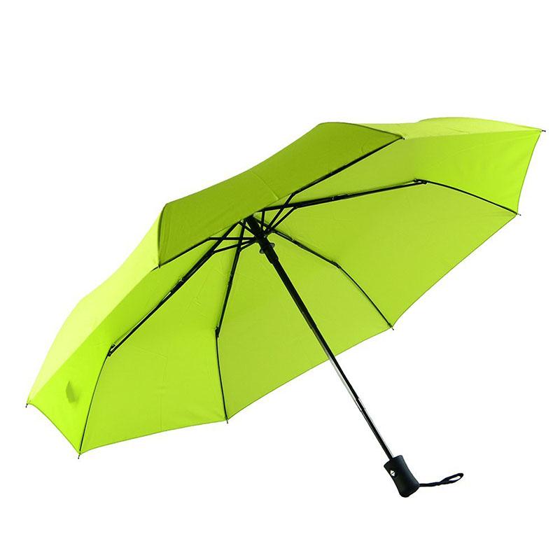 Green Travel Umbrella Windproof umbrella Auto open advertising unbrella 3 folding umbrella