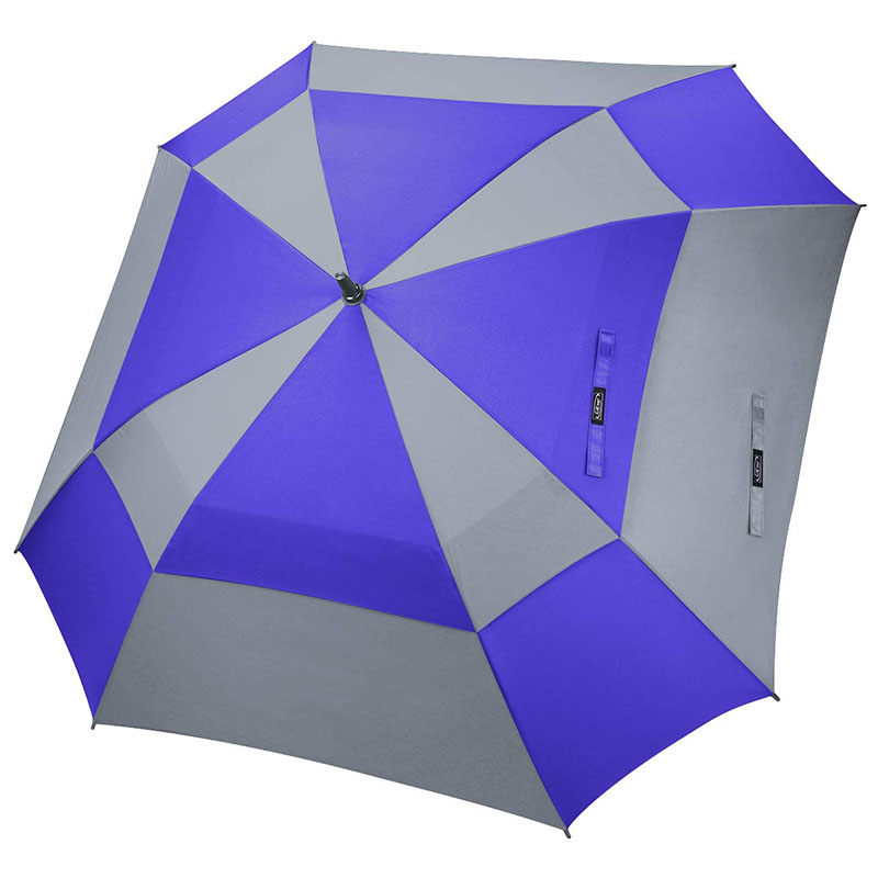 Wholesale 62inch double vented OEM custom brand promotional gifts golf square umbrellas sale