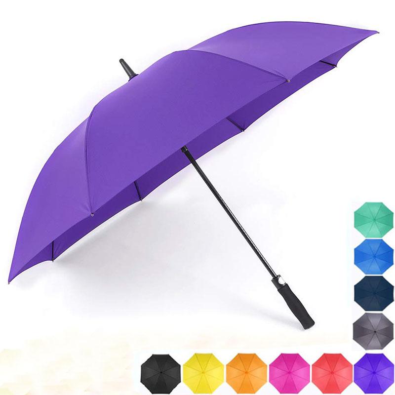 2019 purpleblue Auto open fiberglass frame custom design golf Umbrellas for women